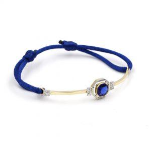 Bracelet or gris or jaune - bijou ancien - art deco